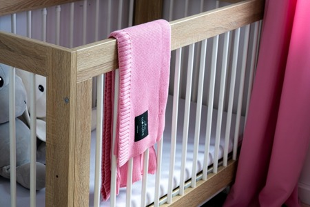 LULLALOVE Bamboo knit blanket 100x120 CANDY PINK